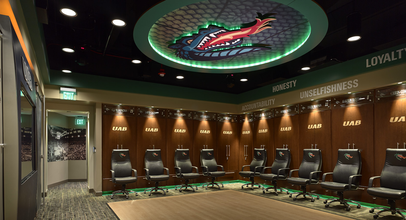 UAB Blazers Mens Basketball Locker Room Birmingham Alabama