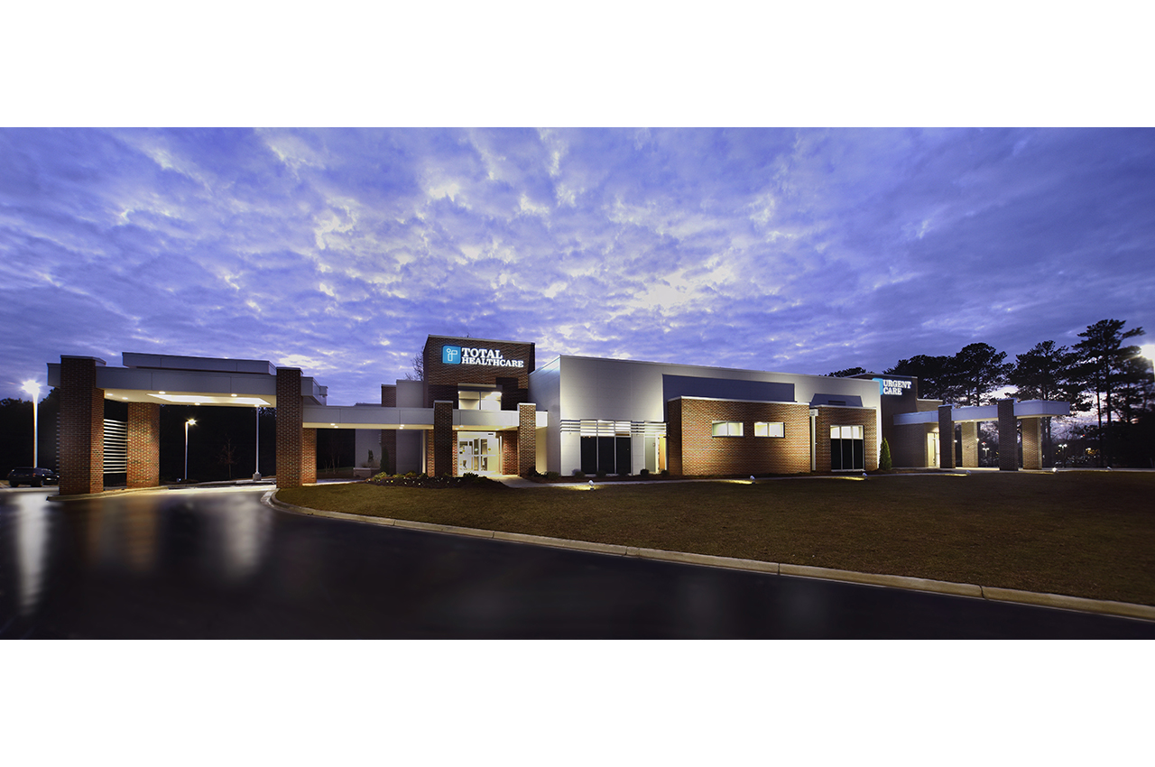 total healthcare and urgent care building architecture at russell medical center