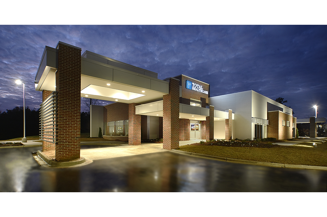 total healthcare entrance at russell medical center