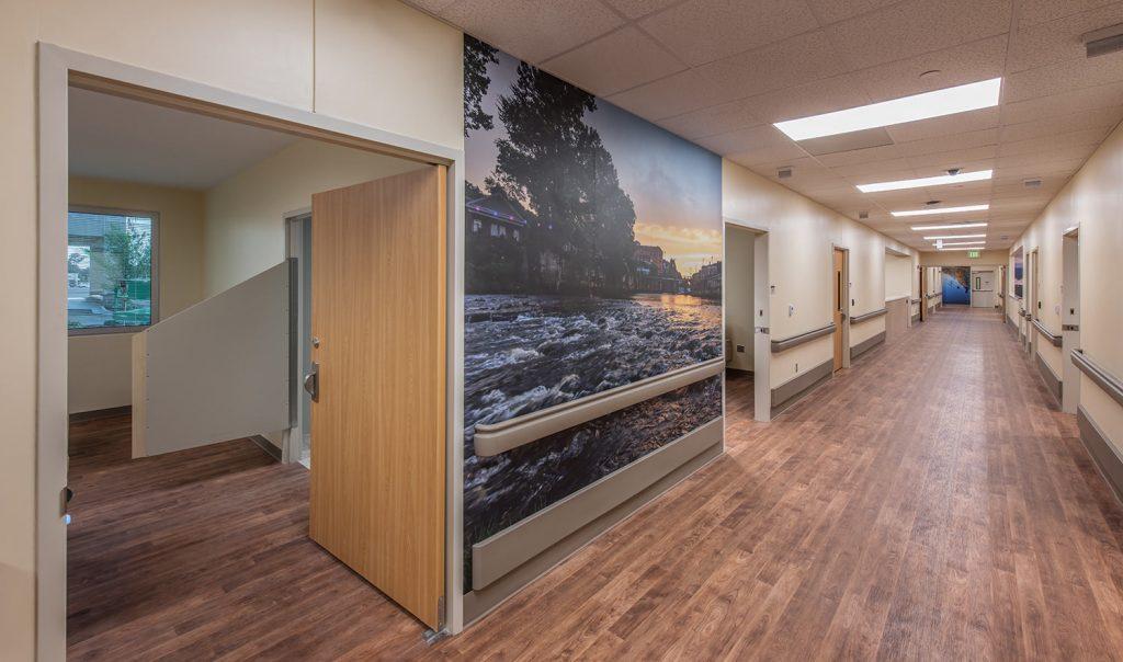 Wall Mural at Prattville Baptist Hospital's Geriatric Behavioral Health Wing