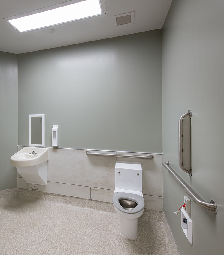 Bathroom at Prattville Baptist Hospital's Geriatric Behavioral Health Wing
