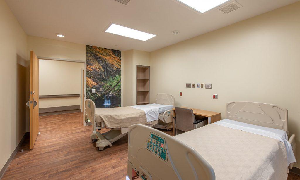 Patient room at Prattville Baptist Hospital's Geriatric Behavioral Health Wing